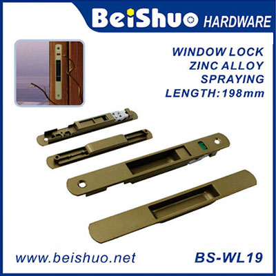 BS-WL19 National Zinc Alloy Crescent Sash Window Handle With Lock