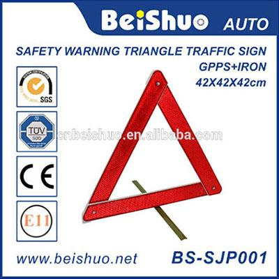 Red Safety Roadway Warning Triangle Traffic Sign