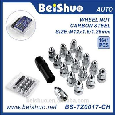 BS-TZ0017-CH High Quality Car Hub Wheel Heptagon Acorn Nut -1