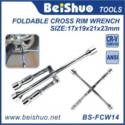 Gorilla Automotive Fold Down 4 Way Lug Cross Rim Wrench