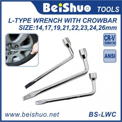 Full Size Metal L Type Wrench with Crowbar