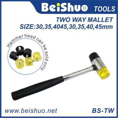 two way mallet hammer with steel handle