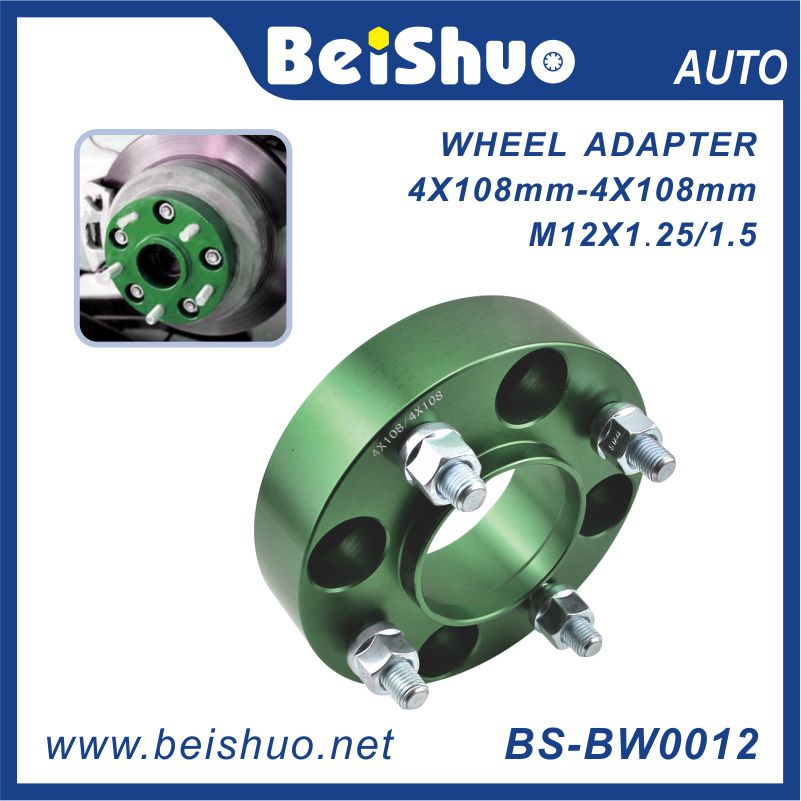 BS-BW0012 4x108 Wheel Adaptor Colorful Hub Centric Spacers