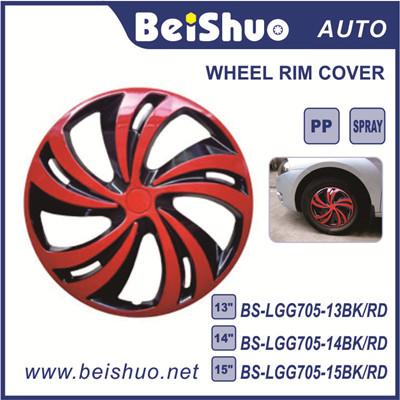 BS-LGG7005 Black&Red Chrome Hubcap Car Auto Parts Wheel Cover