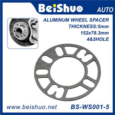 BS-WS001-5 5mm Thick Aluminum 4+5 Holes Auto Wheel Hub-Centric Adapter Spacer