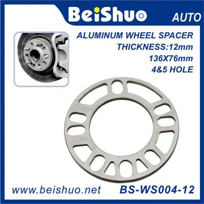 BS-WS004-12 12mm Thick Aluminum 4+5 Holes Auto Wheel Hub-Centric Adapter Spacer