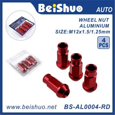 BS-AL0004-RD China Supplier High Strength Auto Parts Blox Wheel Nut for Truck