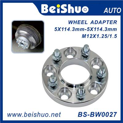BS-BW0027 6061 Forged And Silver Alloy Aluminum Hubcentric Wheel Spacer