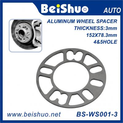 BS-WS001-3 Aluminum Alloy 4 or 5 Lug Thickness 3 5 6 8mm Wheel Spacer Trailer Wheels