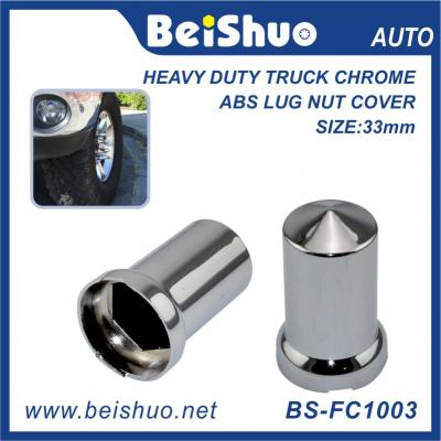 BS-FC1003 33mm truck parts inner hex Chrome Bullet Nut Cover Push On fit for truck car