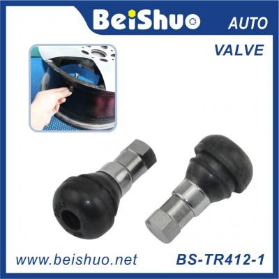 BS-TR412 Rubber Car Wheel Tire Tubeless Valves Stem with Dust Caps