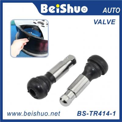 BS-TR412 Rubber Snap-in Valve Stem Car Cap Rubber Tubeless Tire Valves