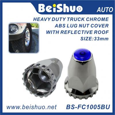 BS-FC1005BU 33mm Truck Nut cover with Blue Reflextive Top