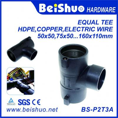 BS-P2T3A HDPE pipe/ reduced tee/ elbow/ socket /plastic fittings