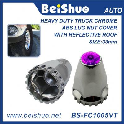 BS-FC1005VT 33mm Truck Nut cover with Violet Reflextive Top