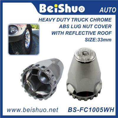 BS-FC1005WH 33mm Truck Nut Cover With White Reflextive Top