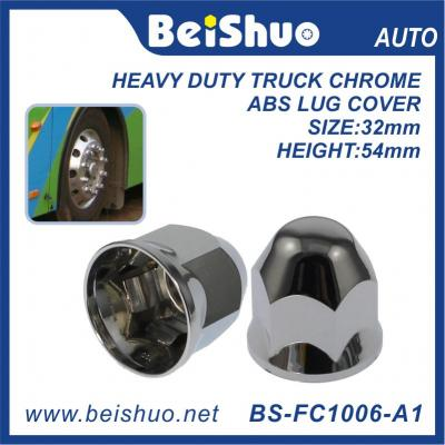 BS-FC1006 32mm 54mm Height Chrome ABS Truck Nut Cover With Slide Nuts Tight