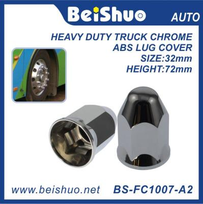 33mm Plastic Rear Hub Cover Set heavy-duty ABS chrome truck lug nut cover