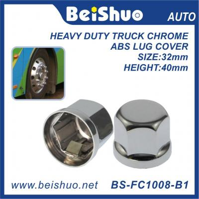 Heavy Duty 33mm Truck/Bus Push-On Chrome ABS Lug Nut Covers