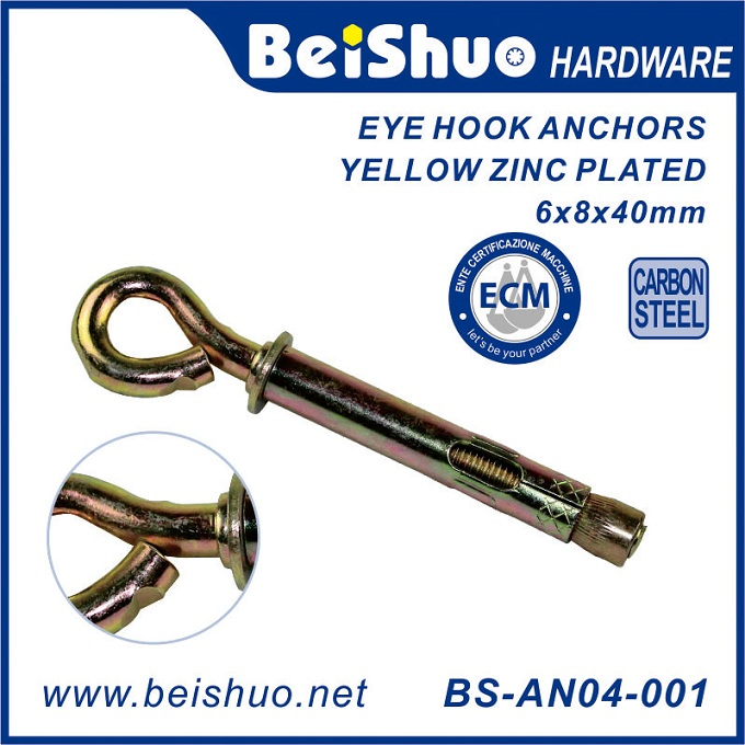 BS-AN07-001 Carbon Steel Bolt Anchor with washer for Cracked and Uncracked Concrete