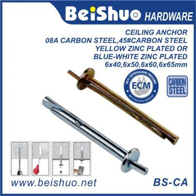 BS-CA Full Size High Quantity Heavy Duty Carbon Steel Wall Concrete Brick Ceiling Anchor Bolts
