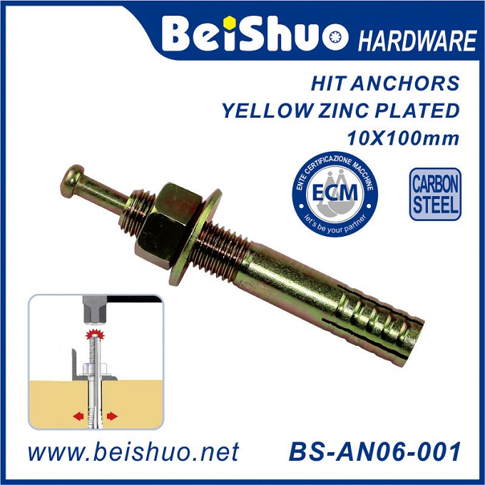 BS-AN06-001 Carbon Steel HIT Metal anchor for Cracked and Uncracked Concrete