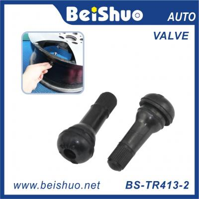 BS-TR413-2 Most Popular Short Black Rubber Valve Truck Tire Valve Stem