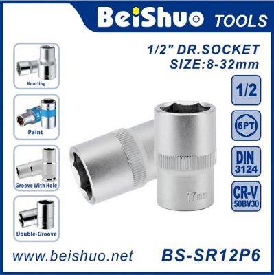 BS-SR12P6 Socket, CR-V,1/2 In Dr, 6 Pts, Auto Repair or Assembly Hand Tools