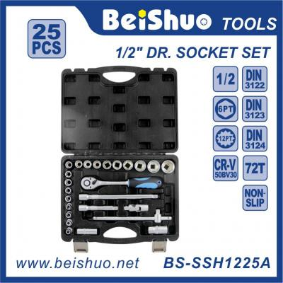 25pcs-1/2''Dr.Socket Wrench Set