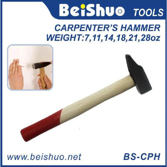 BS-CPH Professional Carbon Steel Carpenter's Hammer With Wooden Handle