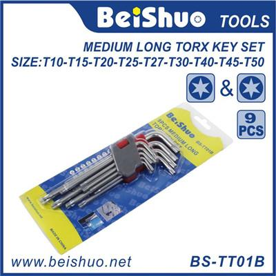 9pcsMedium Torx Head Allen Key Wrench Set