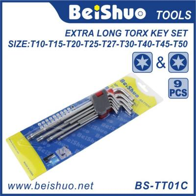 9pcs Long Torx Head Allen Key Wrench Set