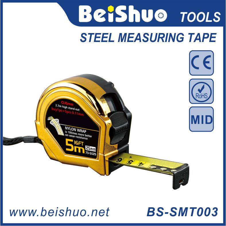 Double Printing Nylon Blade, Magnetic Hook, Measuring Steel Tape