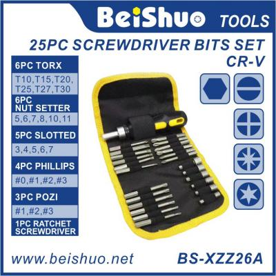 BS-XZZ26A 25PC Screwdriver Bits Set