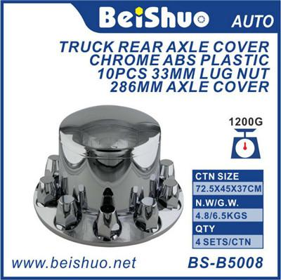 ABS Chrome Truck Rear Axle Cover With Screw-In Lug Nut Cover W/33 Mm