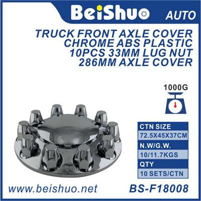 ABS Chrome Truck Front Cone Alex Cover With 1-1/2 Lug Nut Covers Push