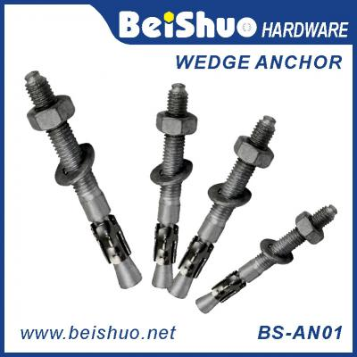BS-AN01-B M6-24 stainless steel wedge anchor carbon steel wedge anchor