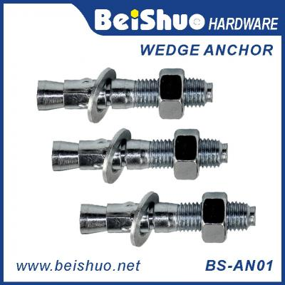BS-AN01-D M8 Stainless steel Zinc plated provides strong  wedge anchor