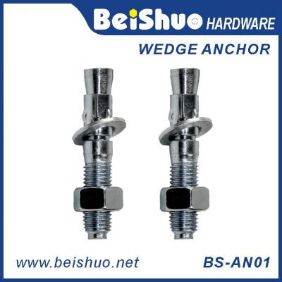 BS-AN01-D M20 Carbon steel Zinc plated provides strong  wedge anchor