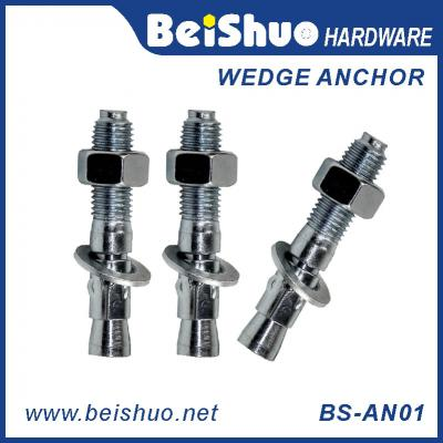BS-AN01-D M6 Carbon steel Zinc plated provides strong  wedge anchor