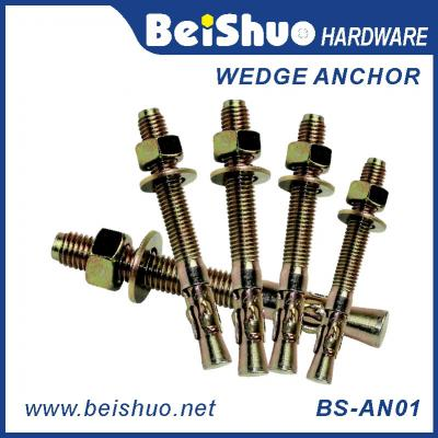 BS-AN01-F M6 Carbon steel Zinc plated provides strong  wedge anchor