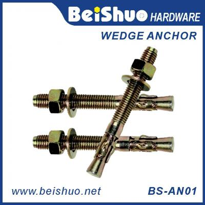 BS-AN01-F M10 Carbon steel Zinc plated provides strong  wedge anchor