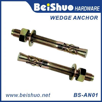 BS-AN01-F M24 Stainless steel Zinc plated provides strong  wedge anchor