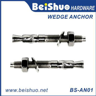 BS-AN01 Z/P,HDG,Plain Stainless steel wedge anchor BS-AN01-I M6