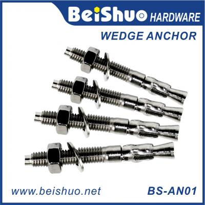 Z/P,HDG,Plain Stainless steel wedge anchor BS-AN01-I M8