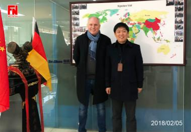 Welcome customers from Germany to our factory