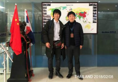 Welcome customers from Thailand to our company