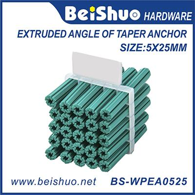 Custiomized Size Plastic Extruded Angle Taper Anchor