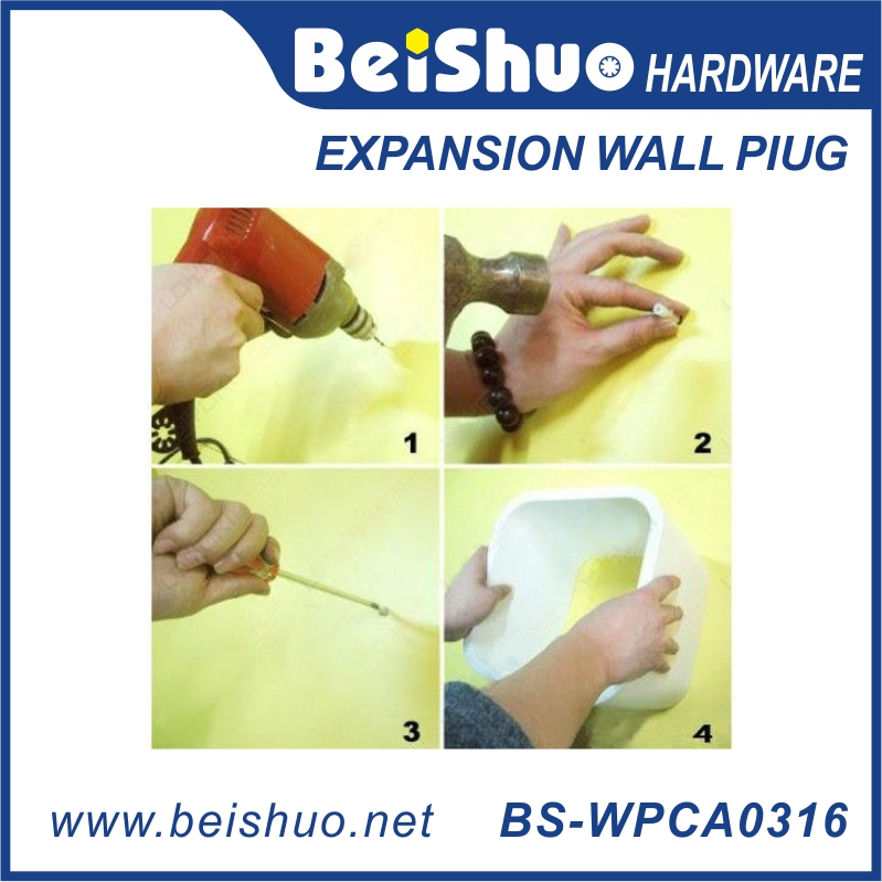 BS-WPCA0316 Red Plastic Universal Expansion Wall Plugs for Building Conical Anchor