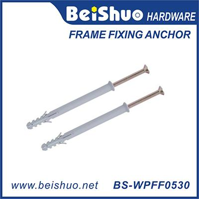 Wholesale Plastic Frame Fixing Anchor PE/PA fish wall plug with flange